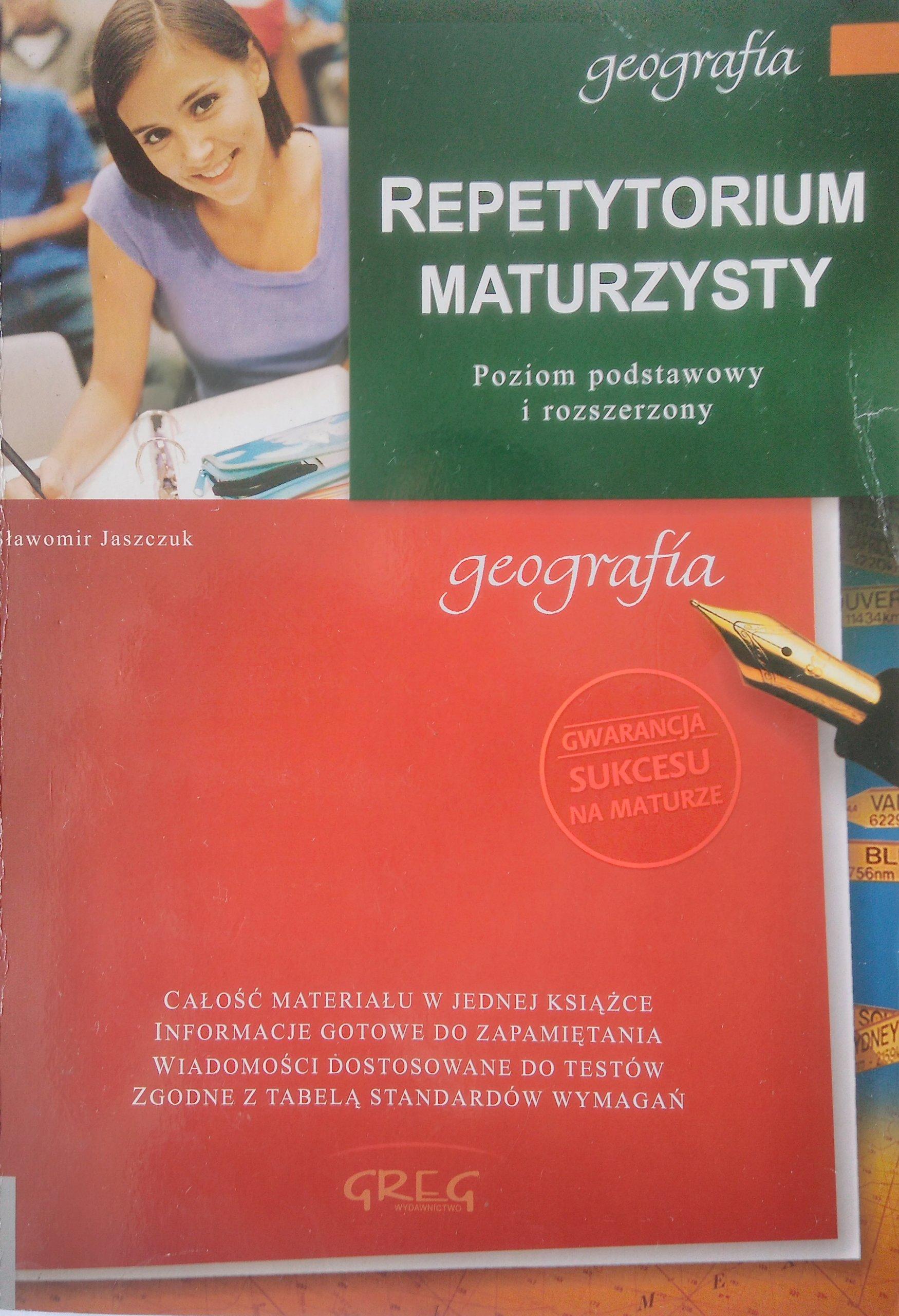 REPETYTORIUM MATURZYSTY GEOGRAFIA JUSZCZAK