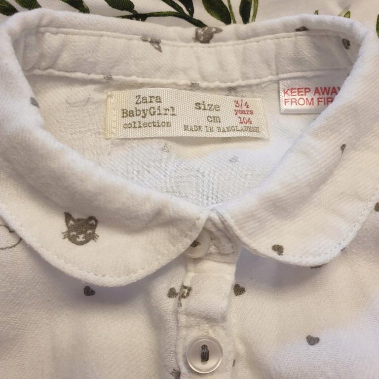 koszula dziewczęca Zara kotki 104