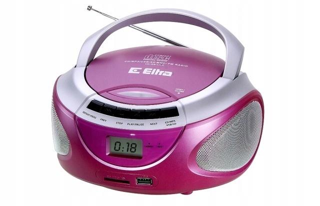 ELTRA Radioodtwarzacz LILA CD-98/USB różowy