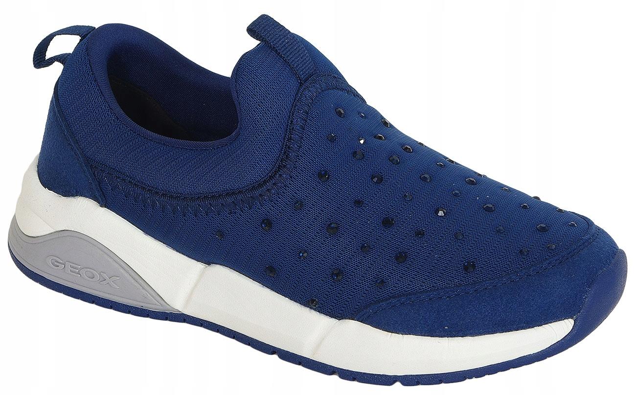 GEOX Hideaki C sneakers Text+GBK Suede Navy 35