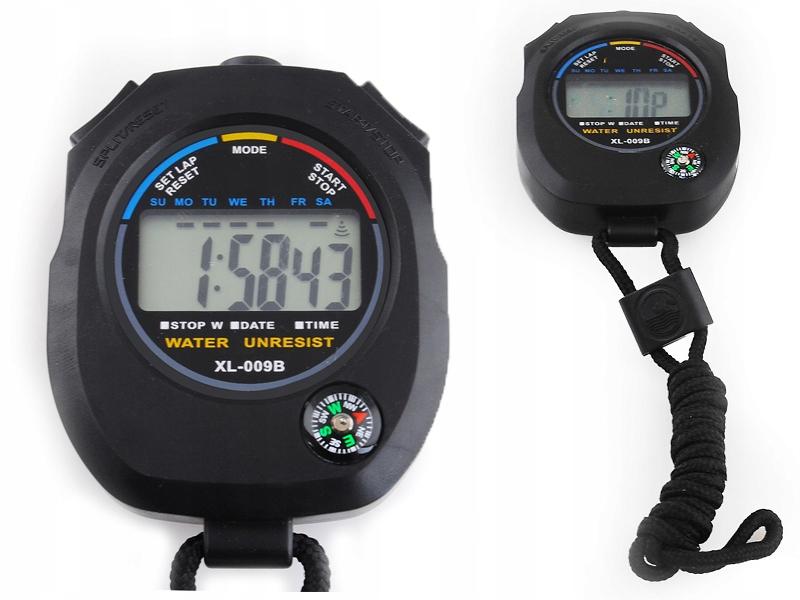 Cyfrowy STOPER z kompasem wielofunkcyjny sznurek
