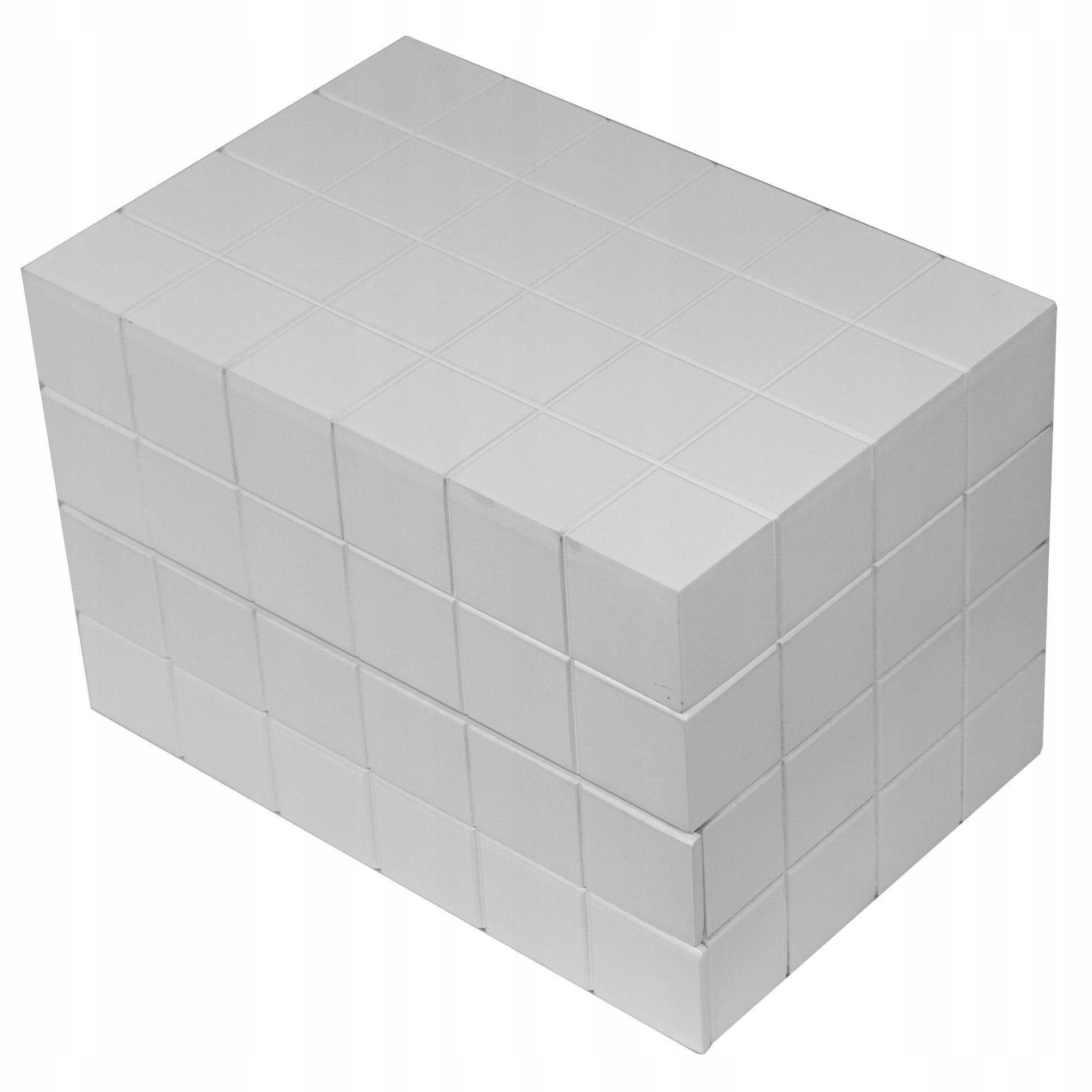 Szkatułka kuferek na biżuterię biała z szufladkami