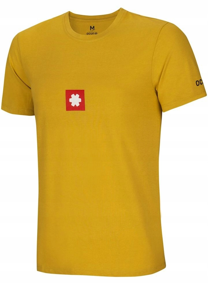 Sportowy T-shirt męski Logo Tee Oil Yellow Ocun M