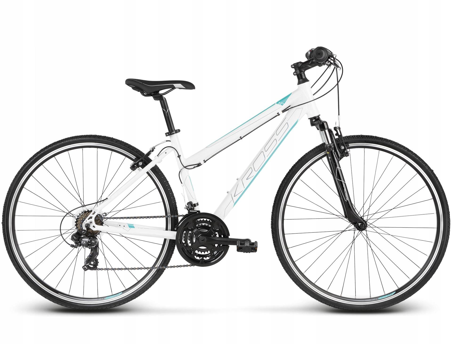 Rower Kross Evado 1.0 W biały/turkusowy r.dm-17