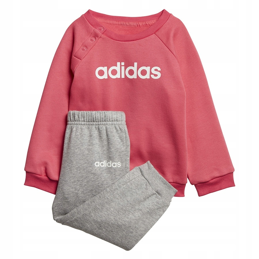 Dres adidas I Lin Jogg FL EI7962 różowy 98 cm!