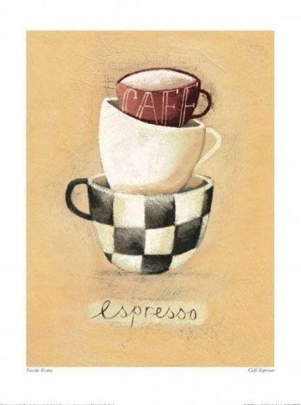 Filiżanki Kawy - plakat premium