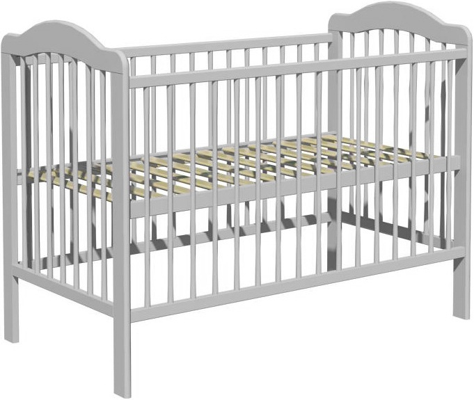 Łóżeczko dziecięce ALEK 120x60cm szary