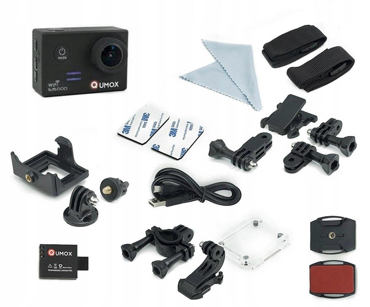 Kamera sportowa Qumox SJ5000 wodoodporna czarna