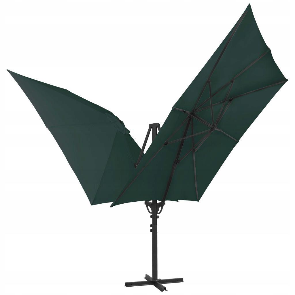 Podwójny parasol z dwiema czaszami, 300x300 cm, zi