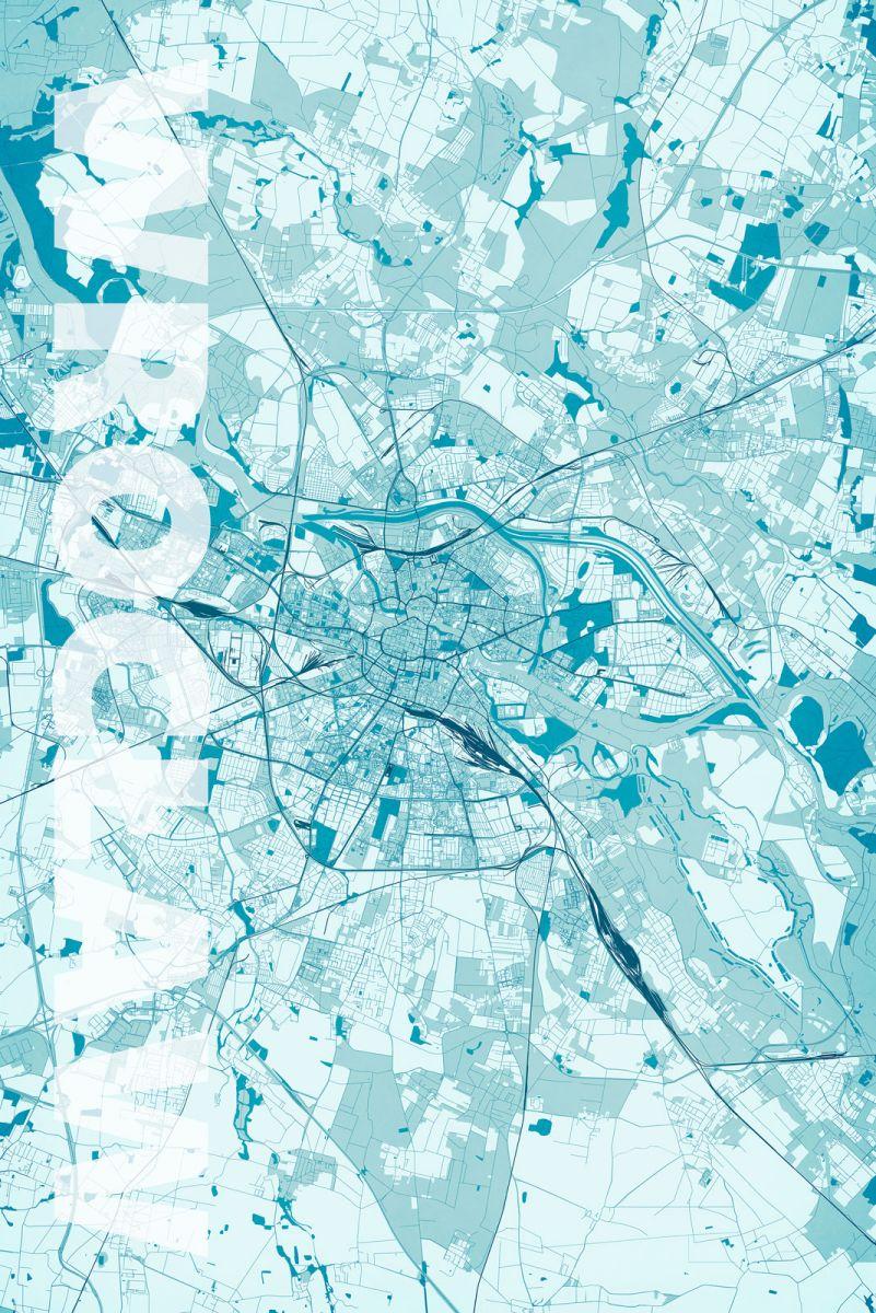 Mapa Miasta Wrocław Plakat 61x915 Cm 7362966717
