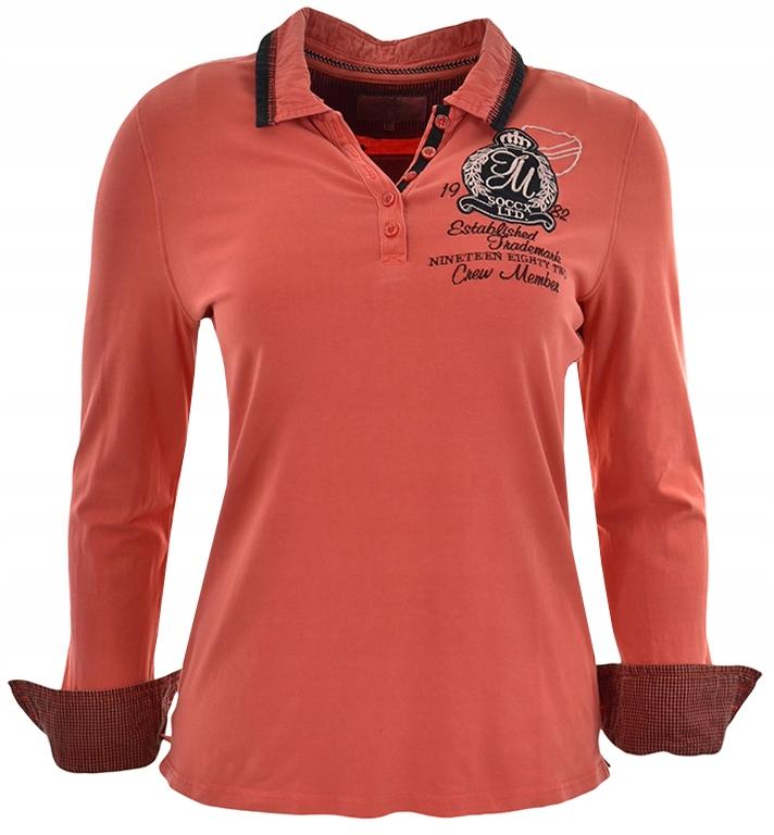 bJJ2936 klasyczna bluzka pomarańczowa 44