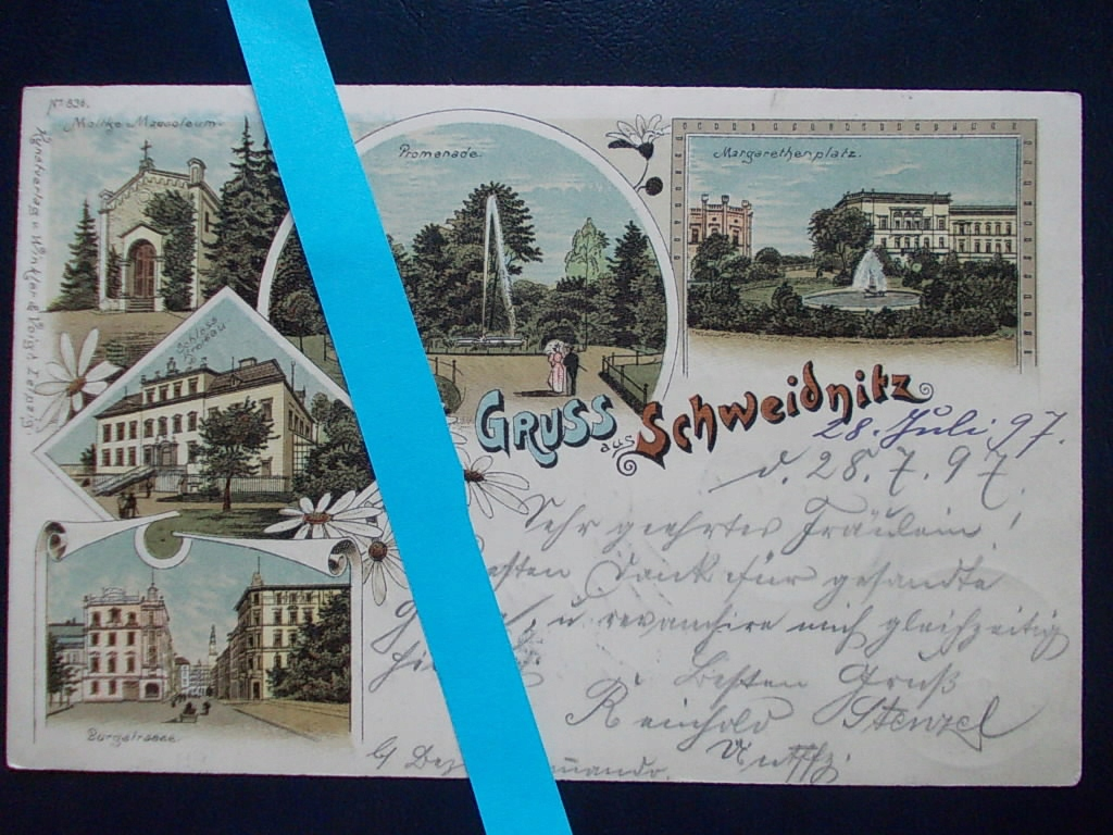 Świdnica Schweidnitz litografia
