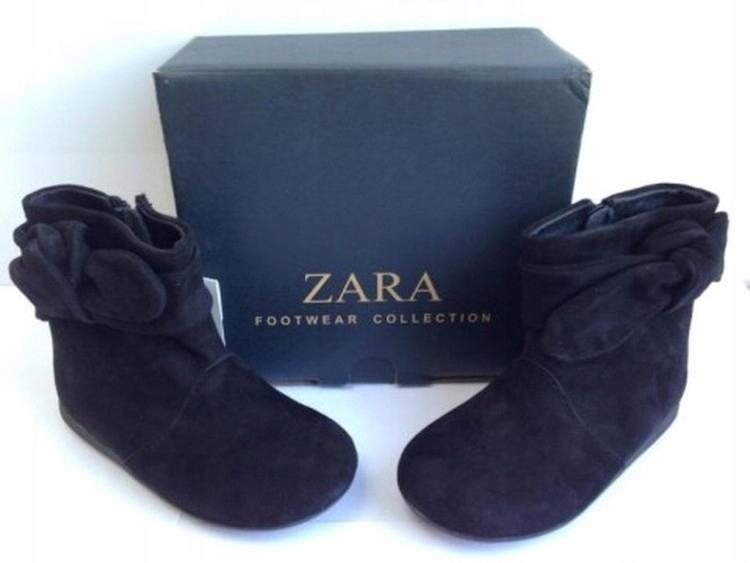 ZARA BABY nowe śliczne buciki R20 skóra naturalna