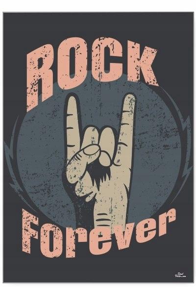 Blacha dekoracyjna / ozdobna rock forever : Rozmia