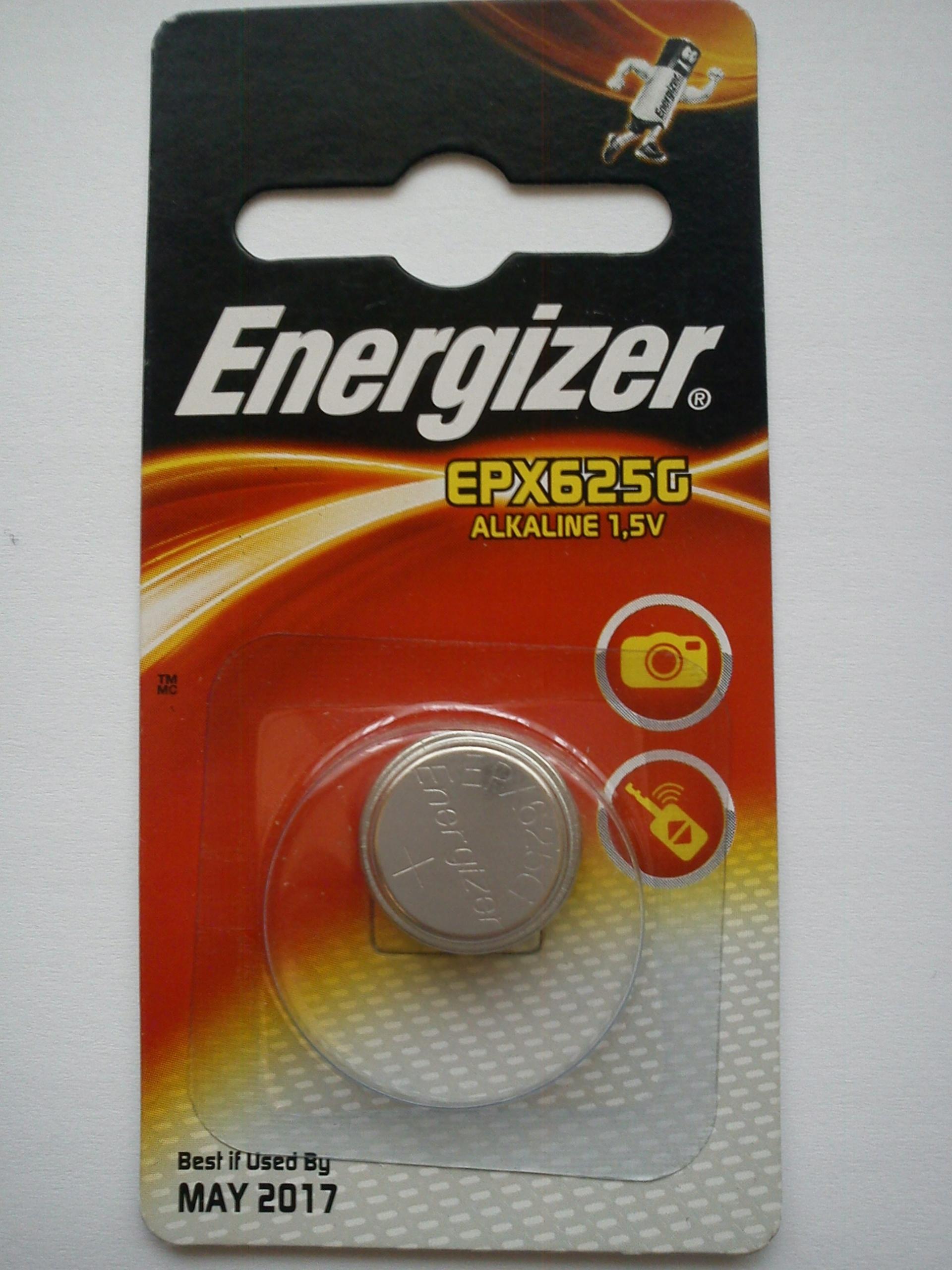 1 x alkaliczna bateria Energizer EPX625G 1,5V