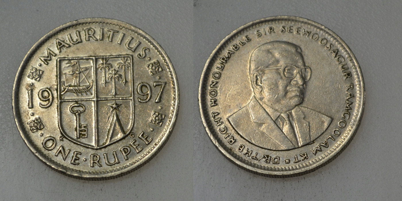 Mauritius 1 Rupia 1997 rok BCM