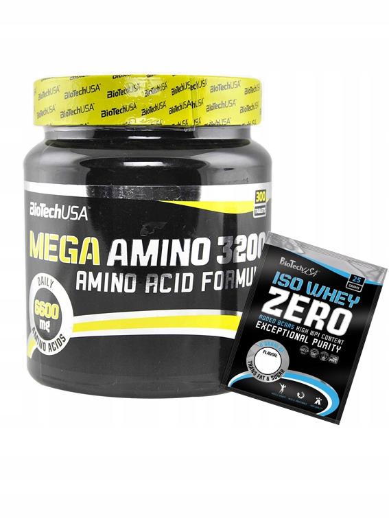 Mega Amino 3200 300 tabletek + Iso Whey Zero FREE!