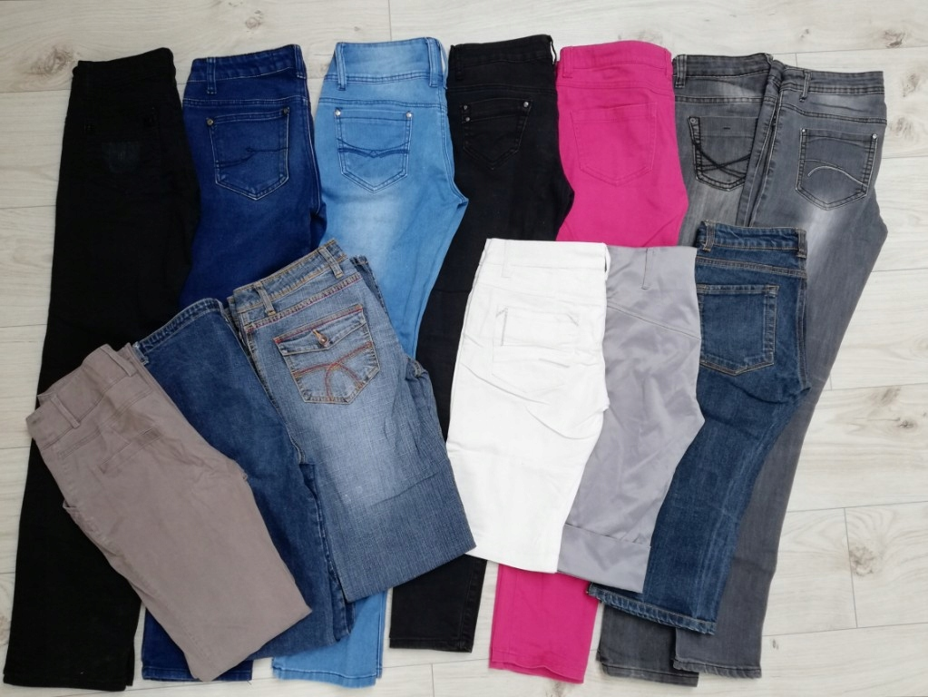 spodnie 13 sztuk jeans mega paka 36 27 28