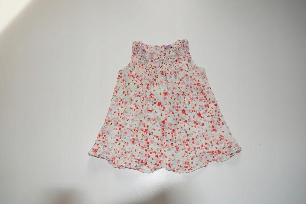 F&F śliczna sukieneczka kwiatuszki 98cm