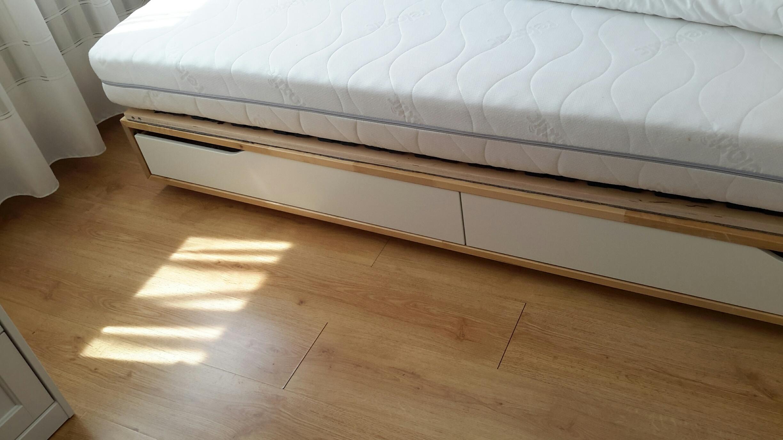 łóżko Ikea Mandal 160200 Stelaż Materac 7434894116