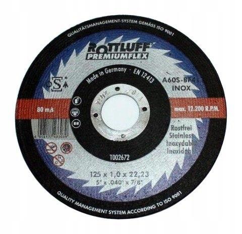 TARCZA PŁASKA T1A 125*1.0*22 A60T-BF INOX PREMIUMF