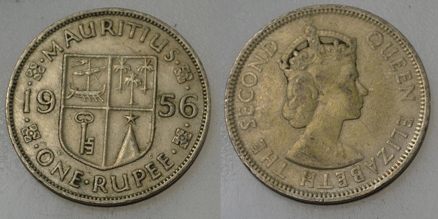 Mauritius 1 Rupia 1956 rok BCM