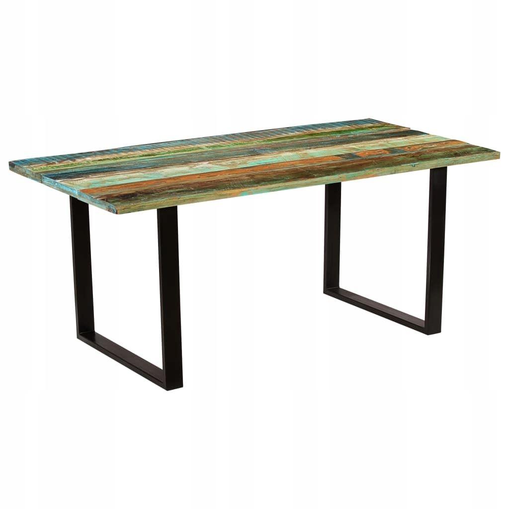Stół jadalniany z drewna odzyskanego, 180 x 90 x 7