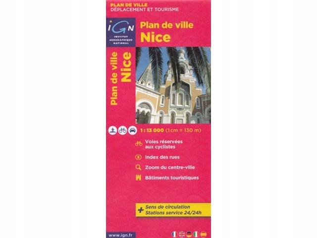 Plan miasta Nicea plan miasta 1:13 000 IGN IGN