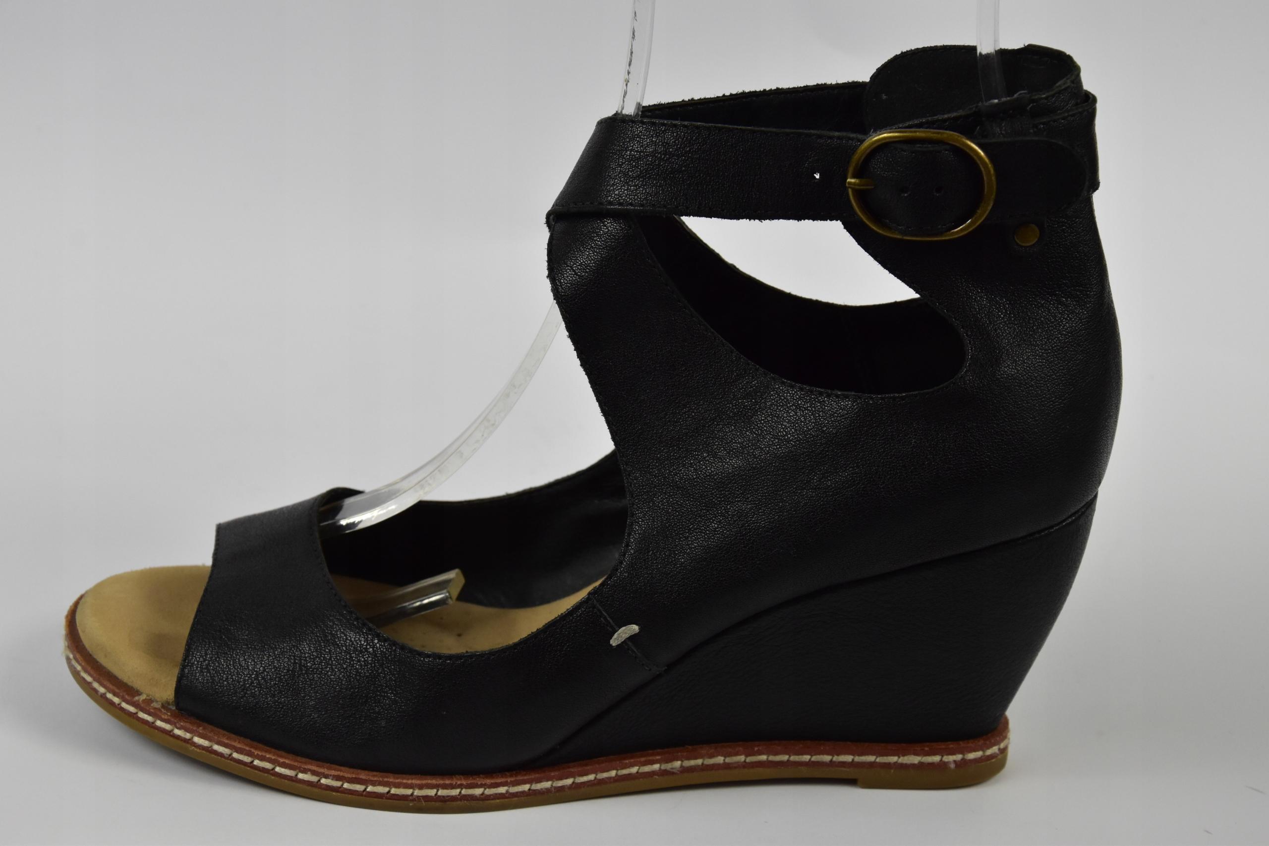 Clarks softwear sandały skórzane r.7/25,5cm