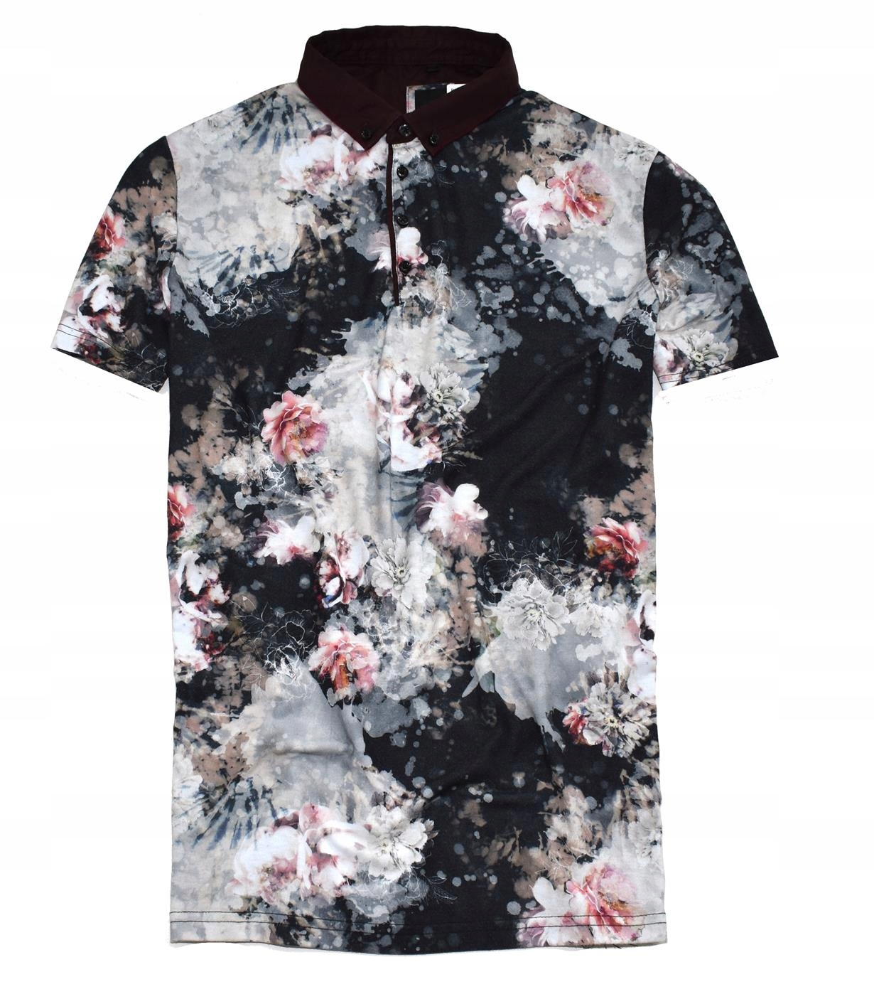 MM 91 RIVER ISLAND_TRENDY ABSTRACT FLOWERS POLO_XL