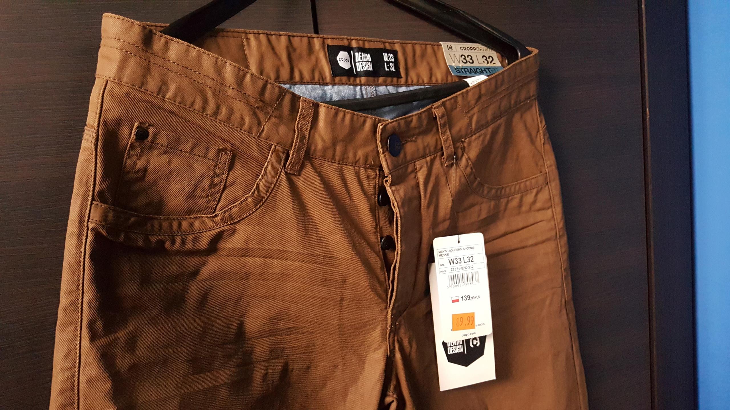 Spodnie CROPP STRAIGHT FIT W33 L32