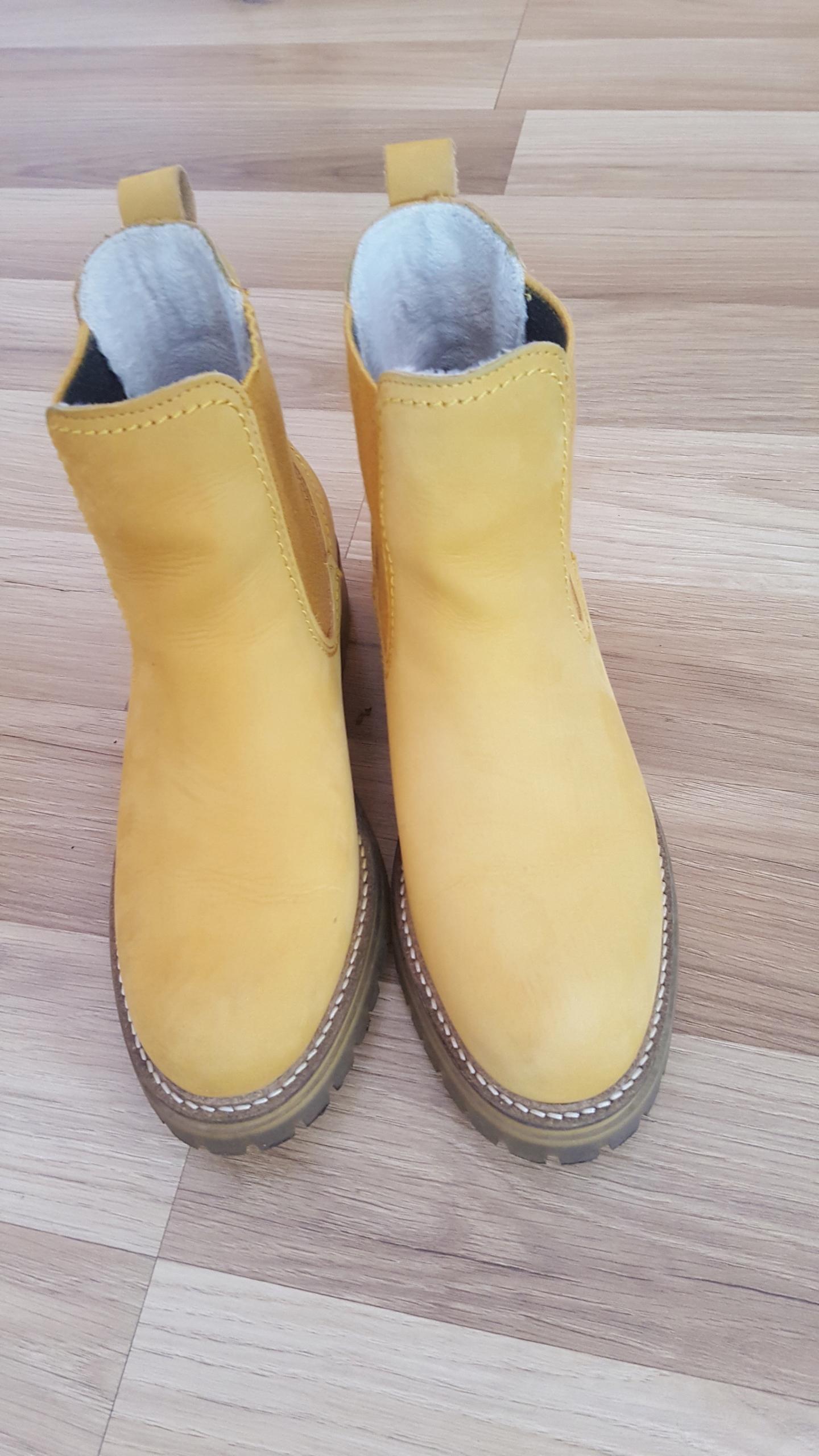Tamaris 37 botki żółte