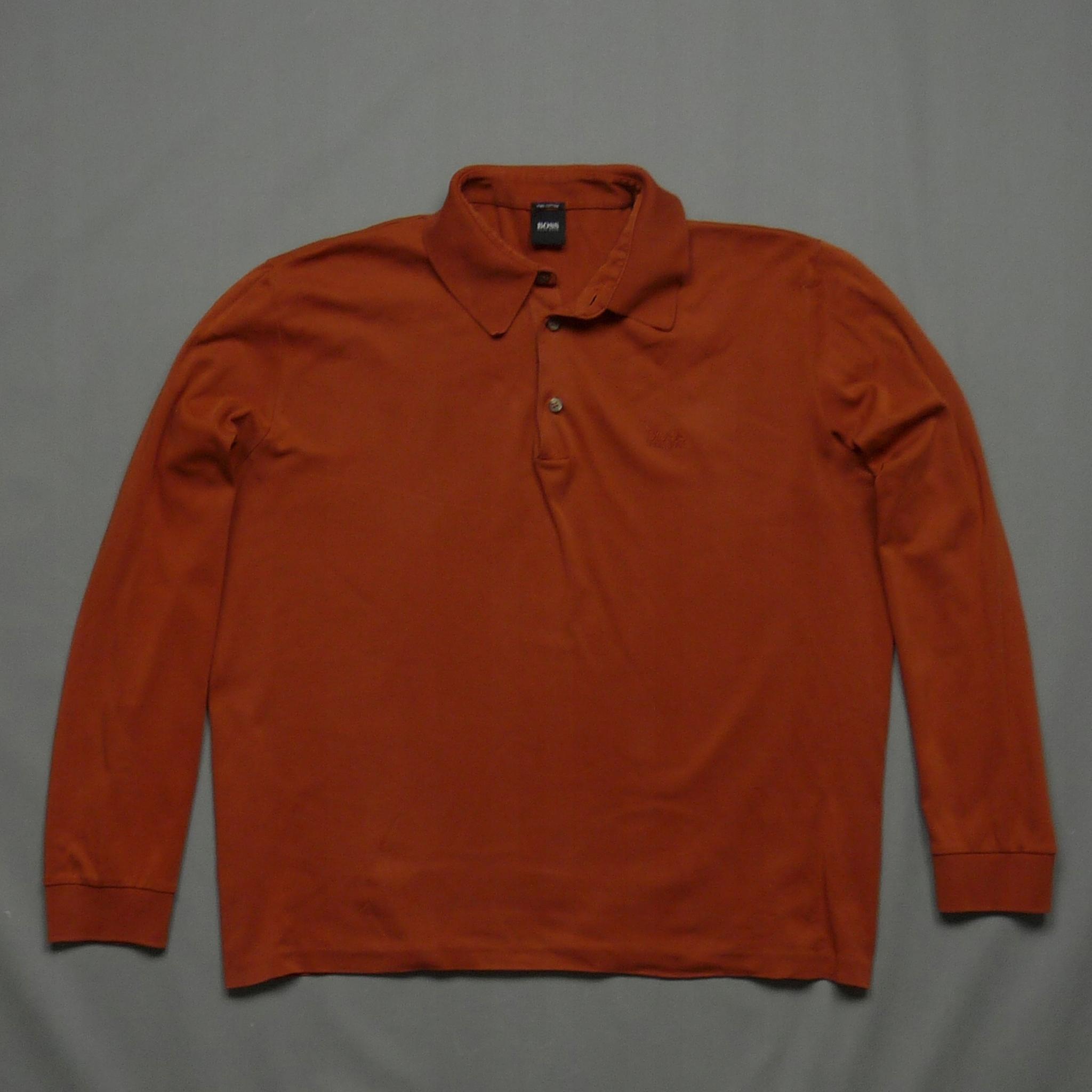 HUGO BOSS koszulka longsleeve Pima Cotton z logo L