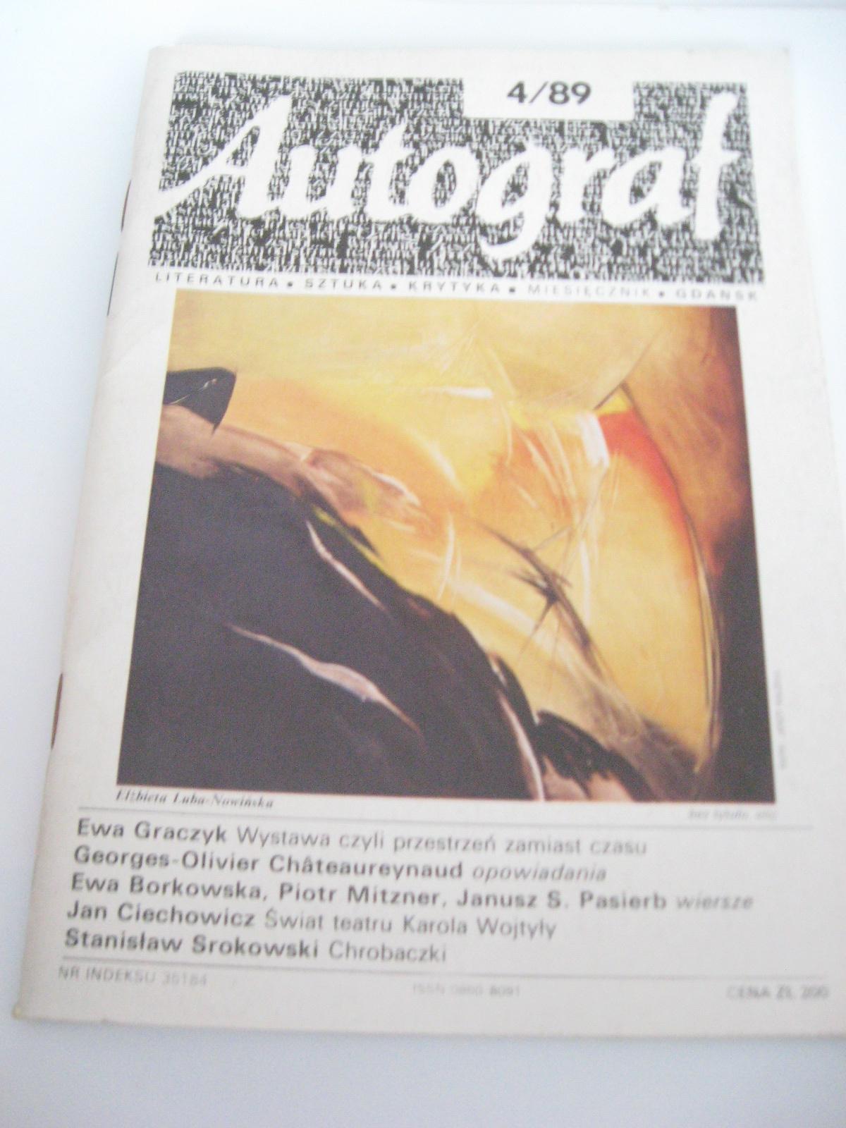 Autograf Nr 489 Miesięcznik O Literaturze 7380846923