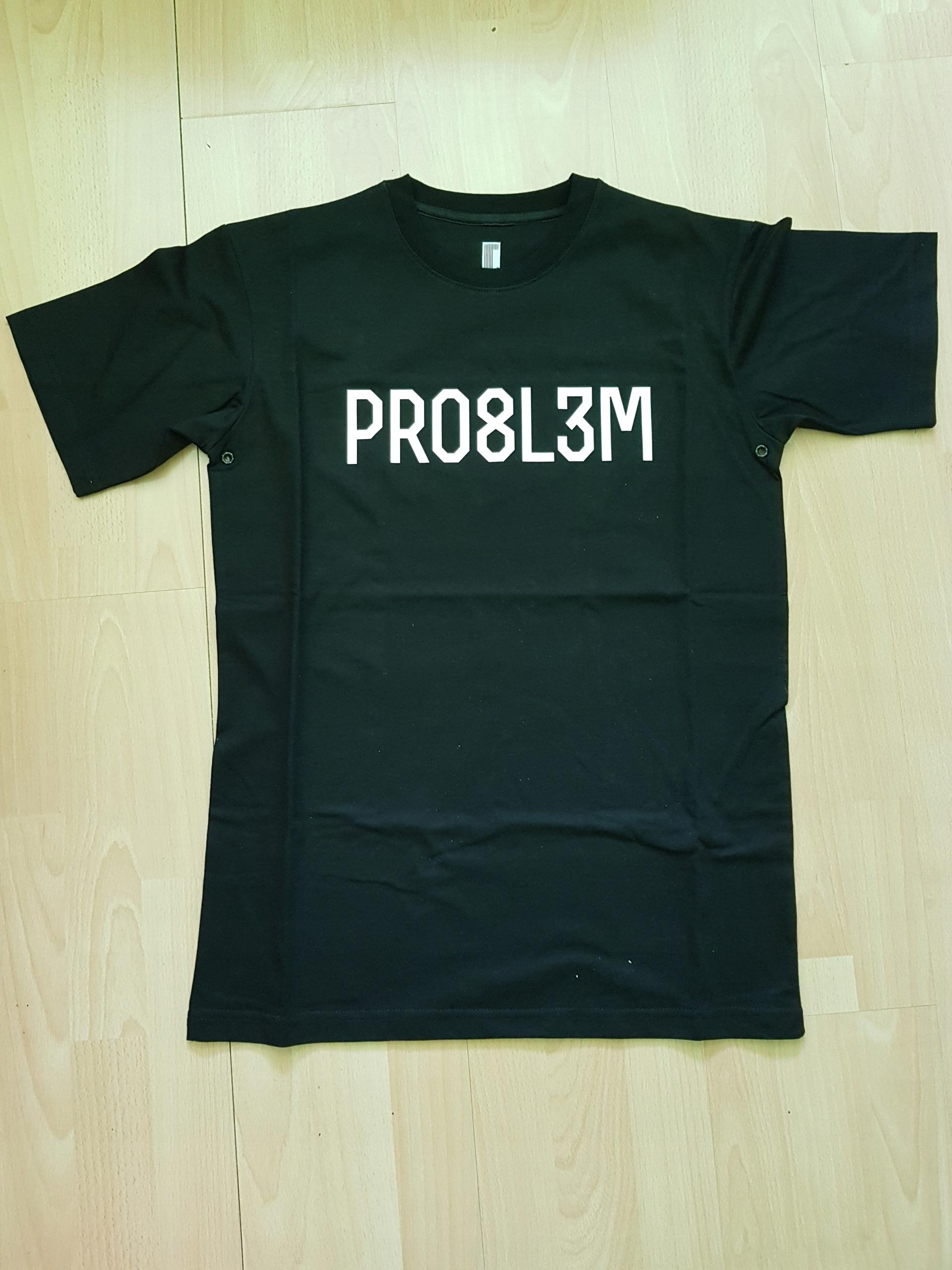 T-shirt Pro8l3m nowy, rozmiar M, klasyczne logo.