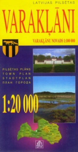 GMINA WARKLANY Łotwa mapa 1:20 000 Jana Seta