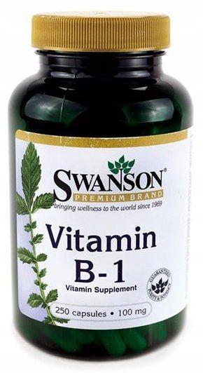 Witamina B-1 Tiamina Vitamin B-1 100mg 250kapsułek