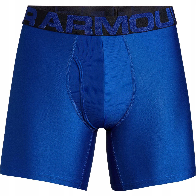 Bokserki UNDER ARMOUR Tech 6in 2Pack Blue # M