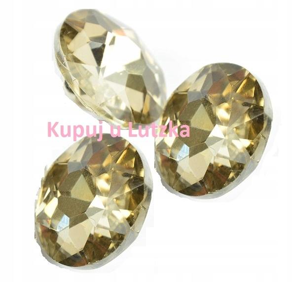 Żółty Guzik szklany szlif diamentowy fi18 Wys. 0zł