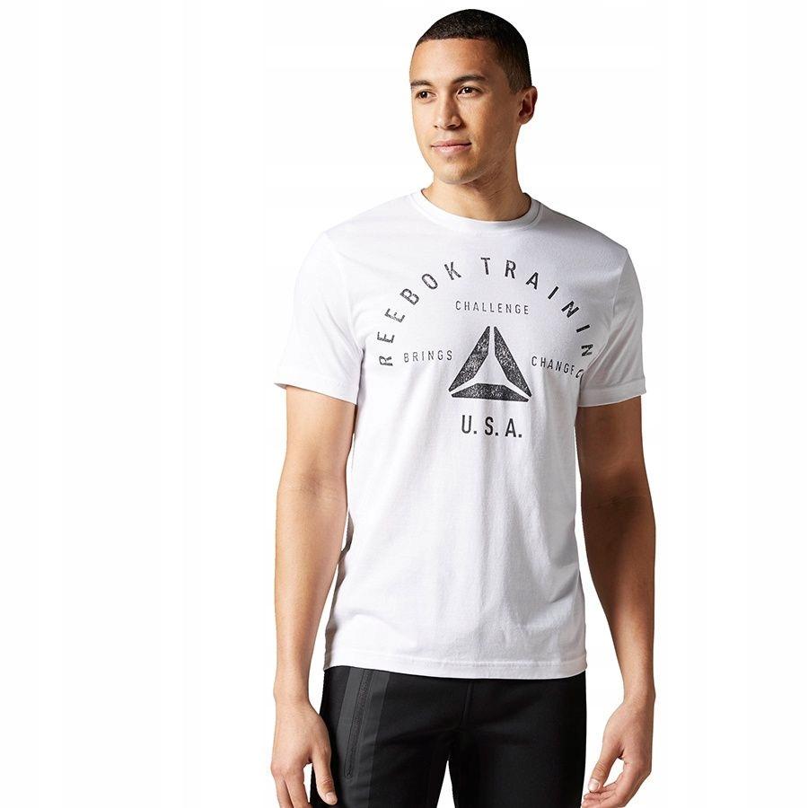 Koszulka Reebok Stamp Graphic Tee AY1050 S biały