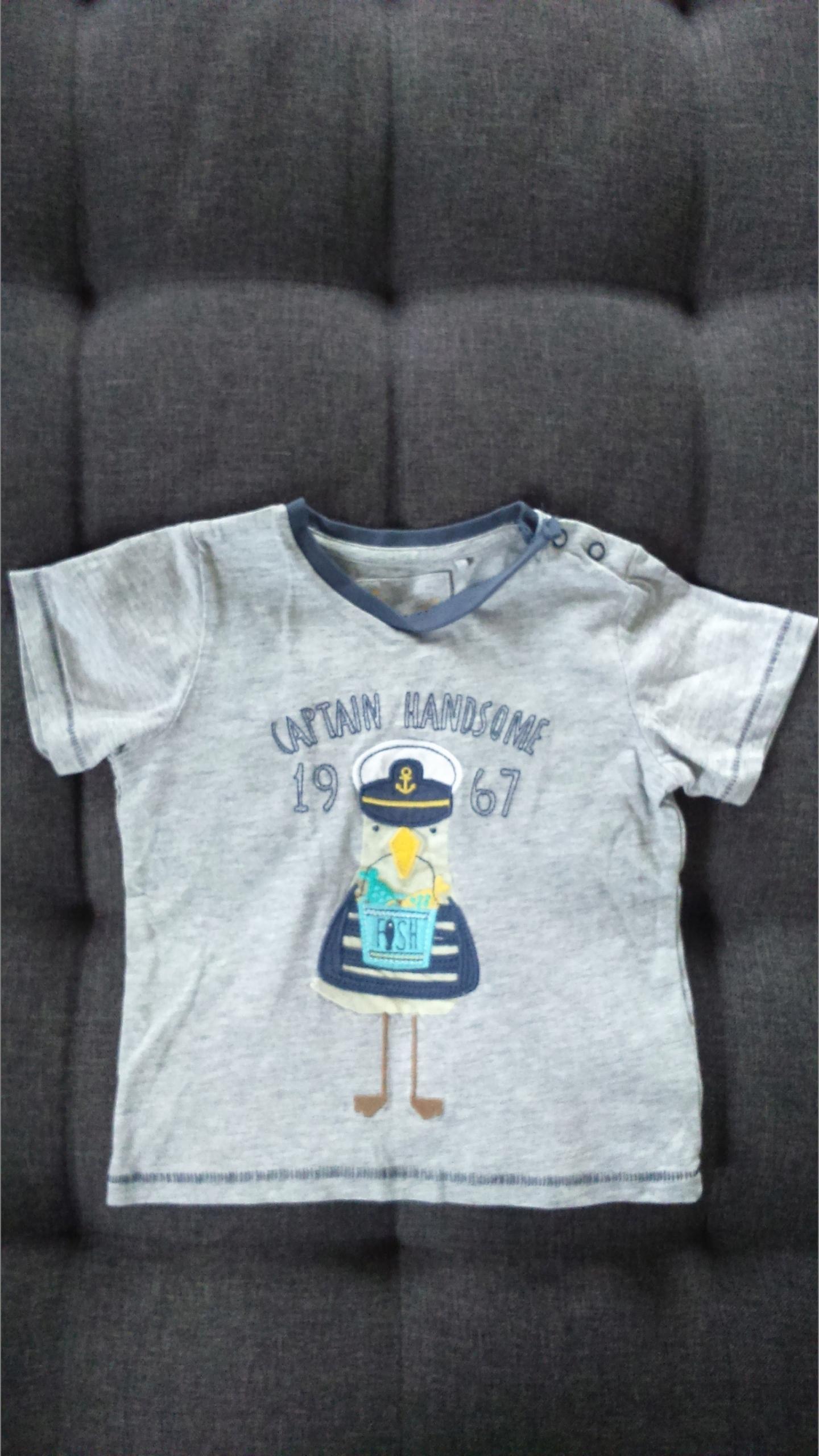 TU koszulka, t-shirt aplikacja r. 86, 12-18 m
