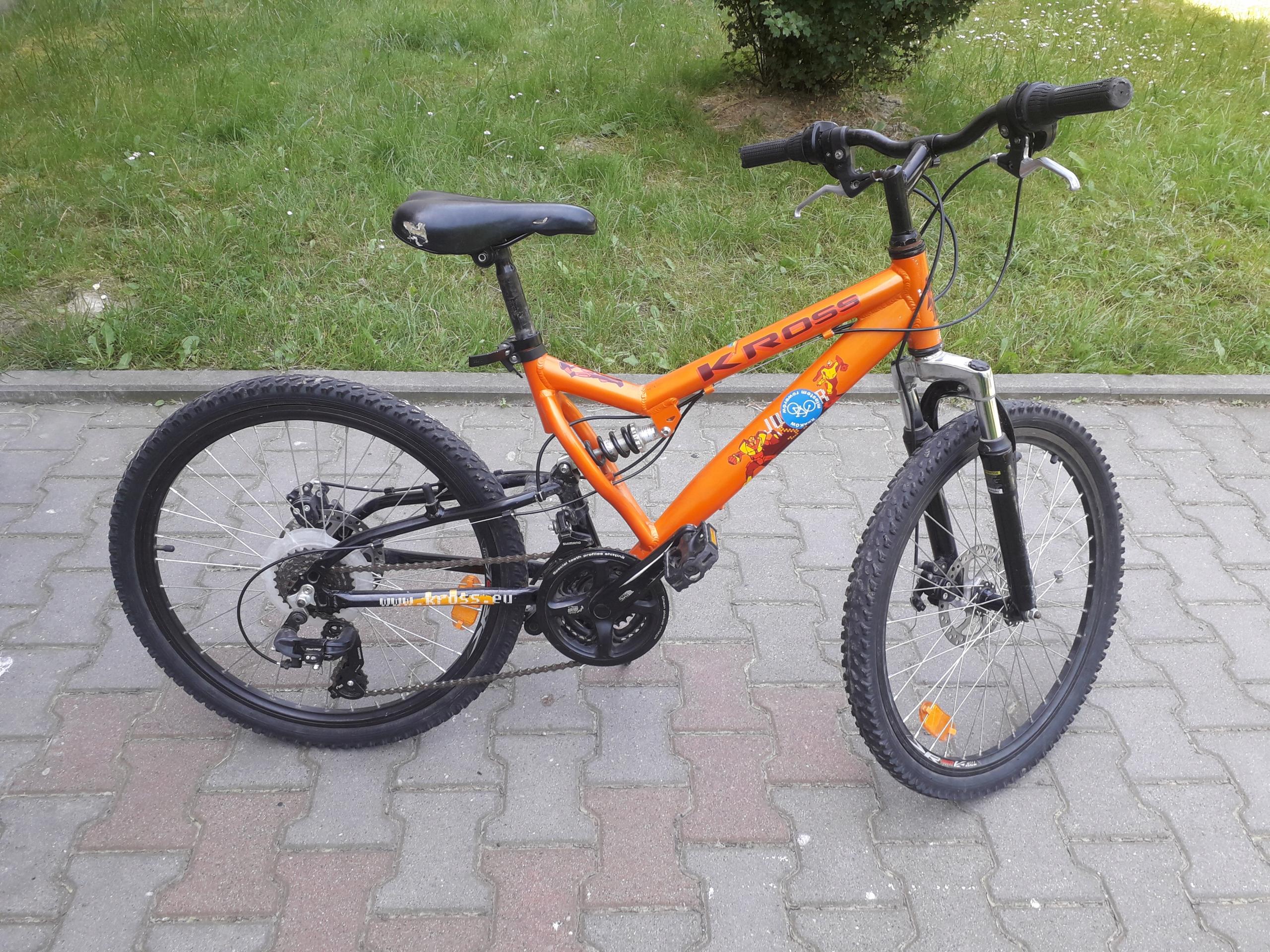 Rower górski Kross 18 biegów amortyzatory koła 24