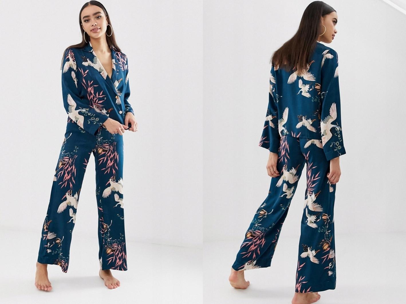 Piżama w kwiecistym wzorze spodnie i bluzka XL/42