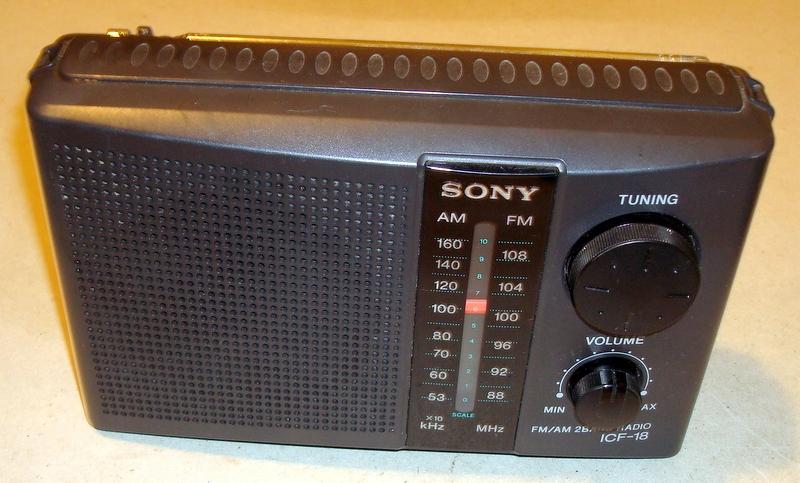 SONY ICF-18 - radio przenośne - niesprawdzone.