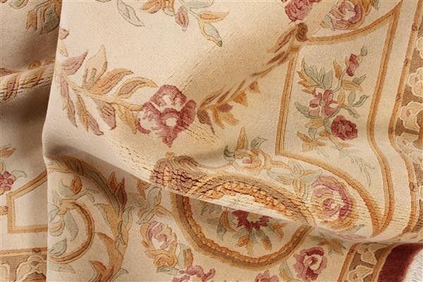Dywan Aubusson Peking Wełniany Chiński 120x180 Beż