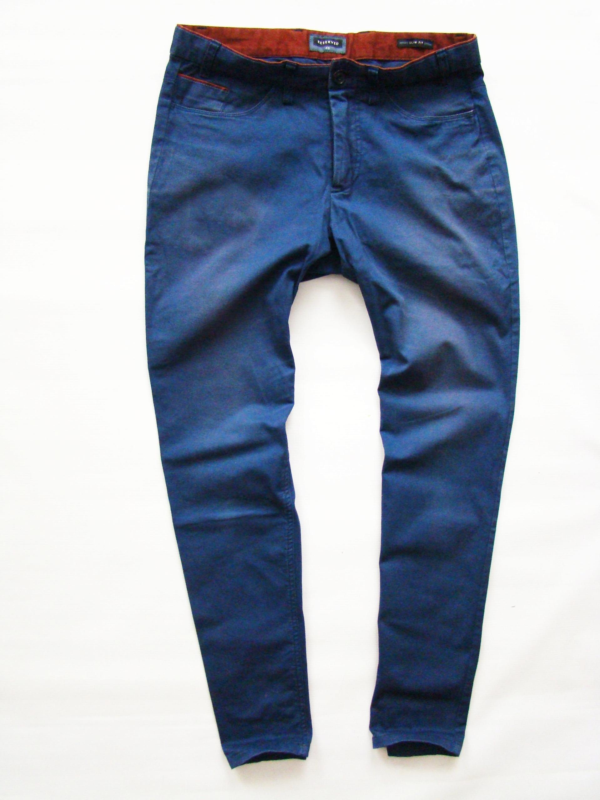 RESERVED Slim Fit swietne markowe spodnie r 48
