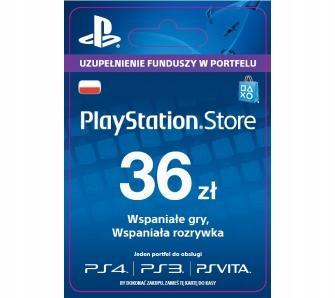 Sony PlayStation Network 36 zł KOD! NAJTANIEJ!
