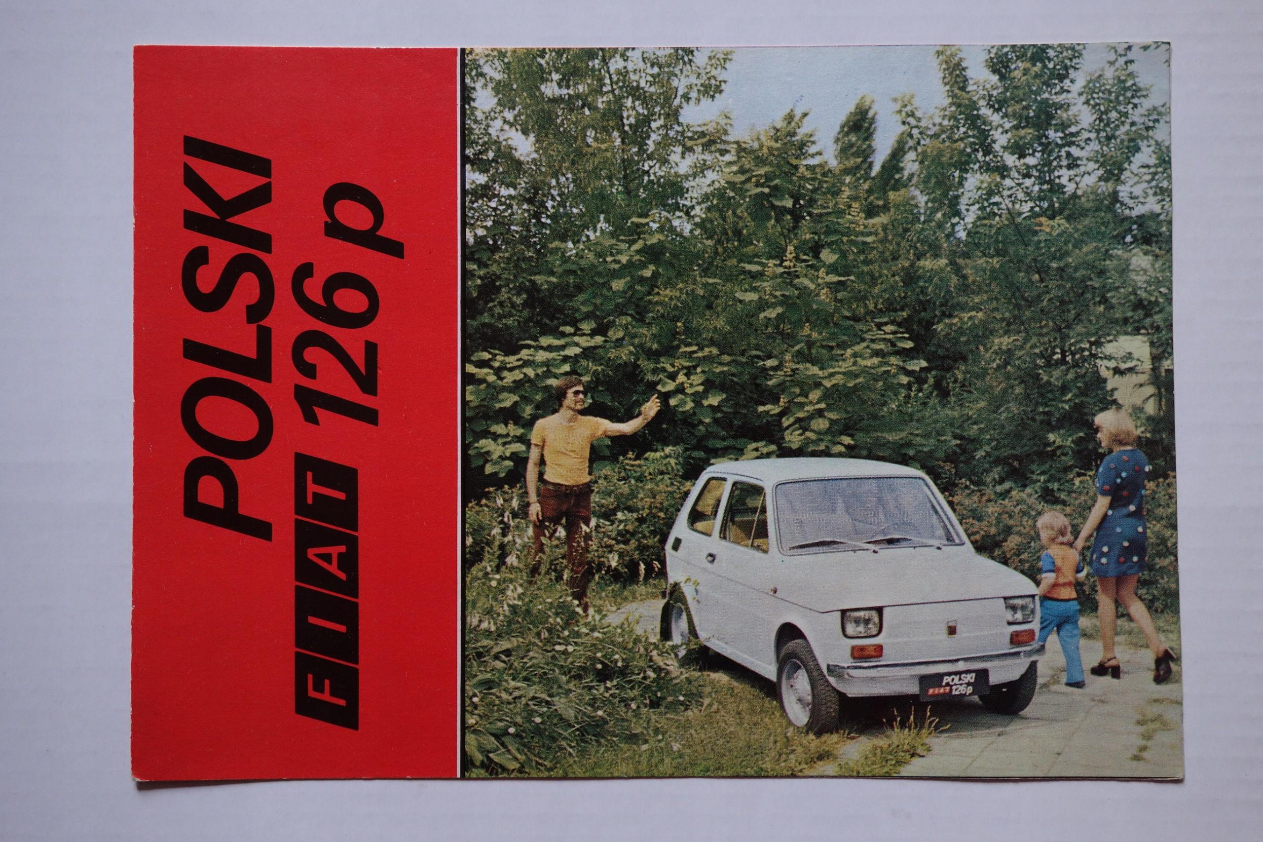 Fiat 126p - prospekt reklamowy