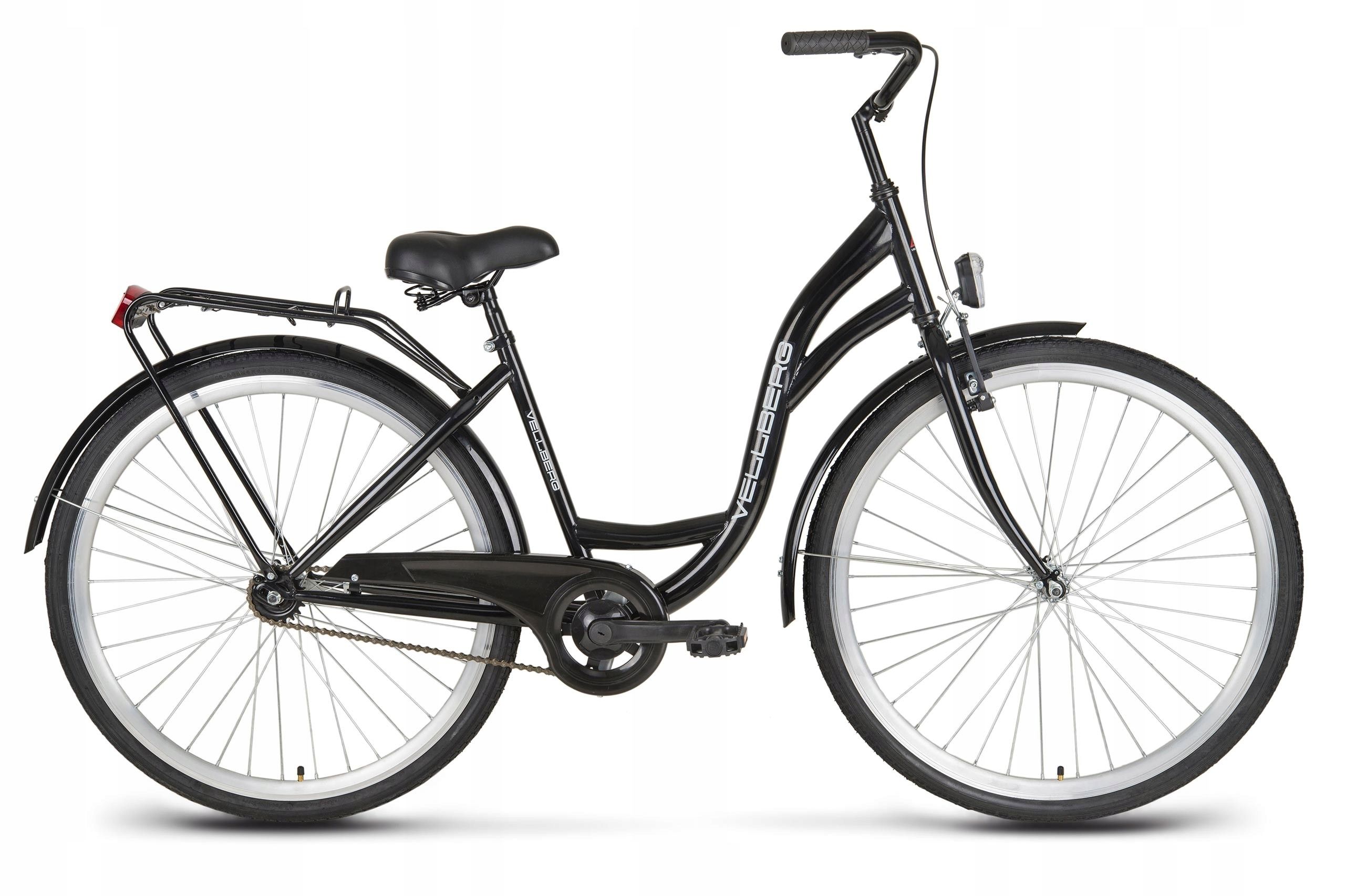 Rower miejski 28 VELLBERG ECO MODNY RETRO czarny