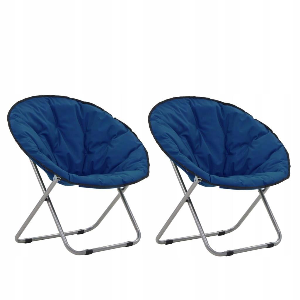 Składane krzesła, 2 szt., okrągłe, niebieskie GXP-